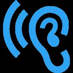 icona orecchio in ascolto